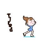動く!英語版可愛い丸顔フィギュアスケート2(個別スタンプ:12)