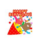 動く!お祝い&誕生日おめでとう☆キラキラ(個別スタンプ:02)