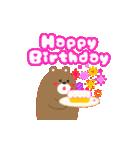 動く!お祝い&誕生日おめでとう☆キラキラ(個別スタンプ:03)