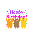 動く!お祝い&誕生日おめでとう☆キラキラ(個別スタンプ:04)