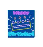 動く!お祝い&誕生日おめでとう☆キラキラ(個別スタンプ:12)