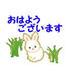 赤ちゃんウサギ 毎日使う言葉(個別スタンプ:1)