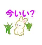 赤ちゃんウサギ 毎日使う言葉(個別スタンプ:4)