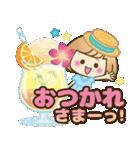 おかっぱ女子【夏の日常】(個別スタンプ:13)