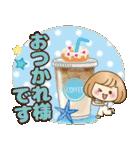 おかっぱ女子【夏の日常】(個別スタンプ:15)