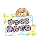 おかっぱ女子【夏の日常】(個別スタンプ:34)