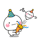 毎年使える!しろまるのお誕生日スタンプ(個別スタンプ:16)