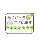 動く☆日常ふきだし☆クローバーがいっぱい(個別スタンプ:8)