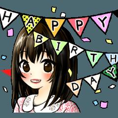 【年齢有】誕生日&色々おめでとうスタンプ