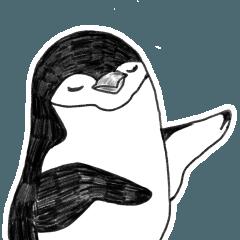 ヒゲペンギンスタンプ