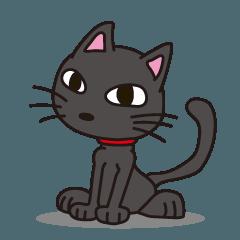 黒猫のとても個人的なスタンプ