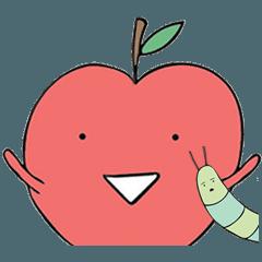 林檎 そして 毛虫