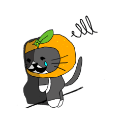 ちょび髭猫の田平ハピナス。被り物シリーズ