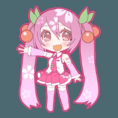 桜ミク(初音ミク)さんスタンプ