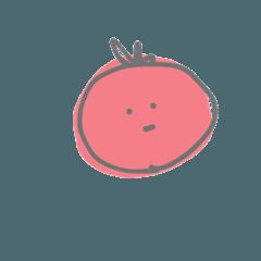 トマトのスタンプだよー