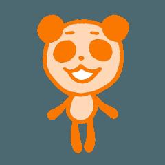 オレンジのパンダ