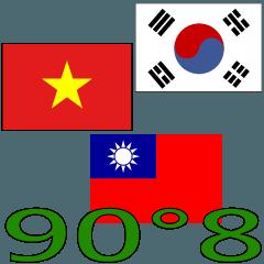 90°8 ベトナム人.マンダリン. 韓国