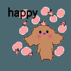 トイプードルプモコの春