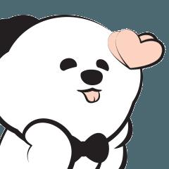 [LINEスタンプ] あどけない犬たちの楽しい日常, PUPPIN (1)