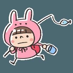 うさズキン(ピンク)