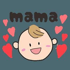 妊娠&子育て家族に!手書き赤ちゃん