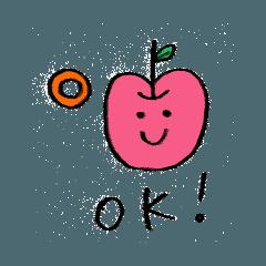 りんごちゃんの毎日スタンプ