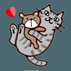 サバトラ ネコちゃんの気持ちと挨拶!