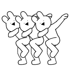 すこぶる踊るウサギ