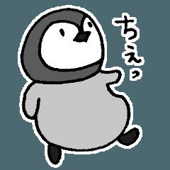 怒ってすねて謝るペンギン