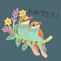 堀内友紀の動物たちの刺しゅう5