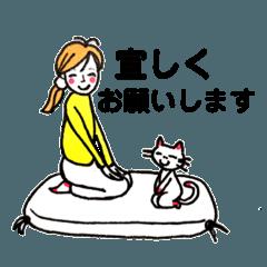 いつも、ネコと一緒☆敬語スタンプ☆