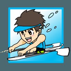 ボート部スタンプ!ロースー男子