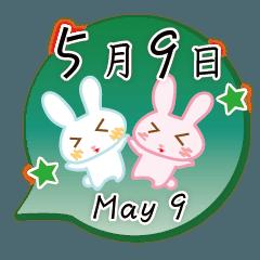5月9日記念日うさぎ