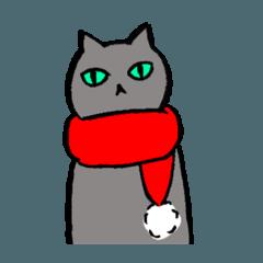 猫たち。冬2。クリスマス、お正月。
