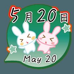5月20日記念日うさぎ