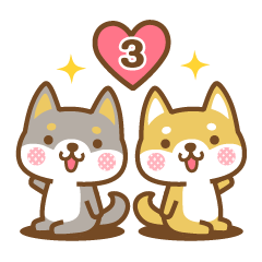 柴犬さんたちのシンプルスタンプ 3