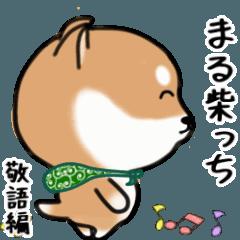 [LINEスタンプ] まる柴っち!(敬語・丁寧編)