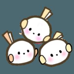 かわいい白丸小鳥シマエナガの敬語スタンプ