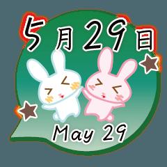 5月29日記念日うさぎ