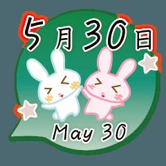 5月30日記念日うさぎ
