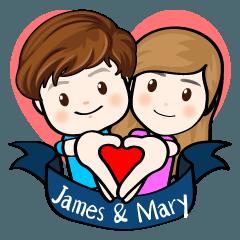 ジェームズ&メアリー