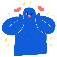 青いベビー