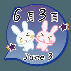6月3日記念日うさぎ