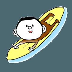 おさる 1 サーフィンしたい