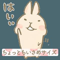 [LINEスタンプ] うさぎ(の、マロンちゃん)