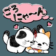 ちょっと太めな猫ちゃん(吹き出し)