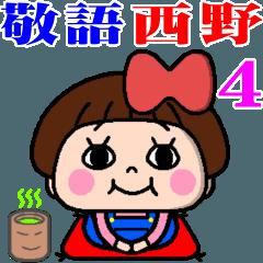 毎日使える⭐️おてんば西野さん4敬語編
