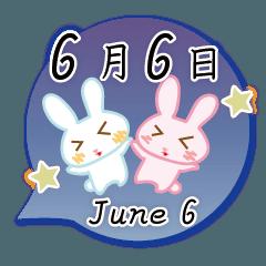 6月6日記念日うさぎ