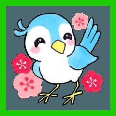 【新元号】かわいい小鳥