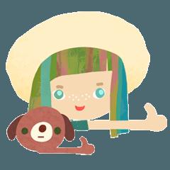 [LINEスタンプ] チカちゃんとソラ